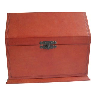 Italian Leather Stationery Box