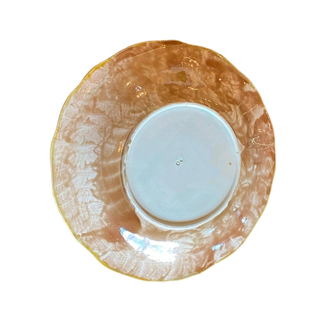 19th Century 19th Century French Majolica Plate For Sale - Image 5 of 6