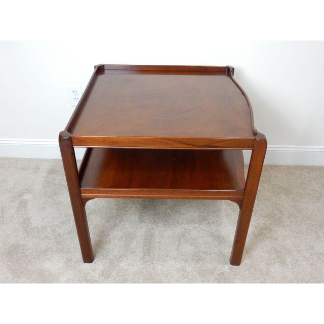 Baker Furniture Large 2 Tier Mahogany Table - Image 8 of 11