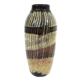 Postmodern Art Studio Glass Vase For Sale