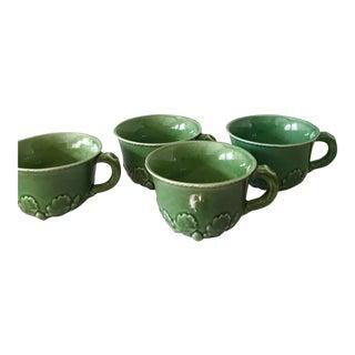 Majolica Acorn Motif Soup Cups, Set of 4 For Sale