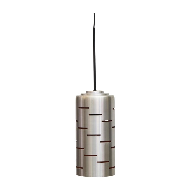 Mod Cylinder Pendant Light With Linear Cut - Image 1 of 8