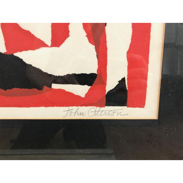 """John Otterson """"Broken Red"""" Abstract Serigraph, Signed & Numbered, Early 1950s For Sale In San Francisco - Image 6 of 9"""