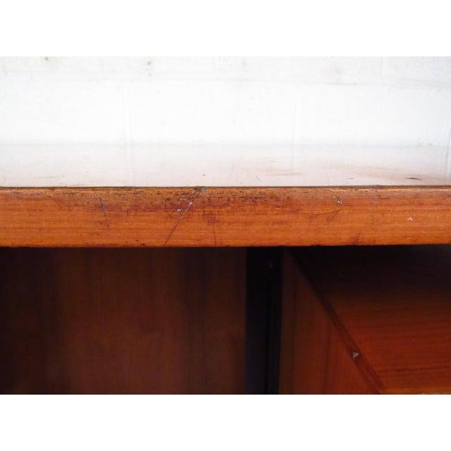 Mid-Century Teak Floating Top Desk - Image 9 of 11