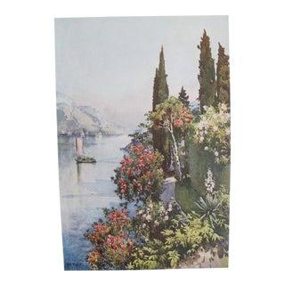 1905 Original Italian Print - Italian Travel Colour Plate - Villa Giulia, Lago DI Como For Sale
