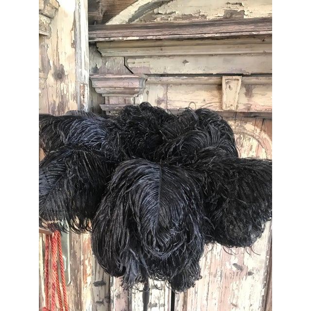 Duster with Ostrich Feathers and Leather, Handcrafted For Sale In Los Angeles - Image 6 of 7