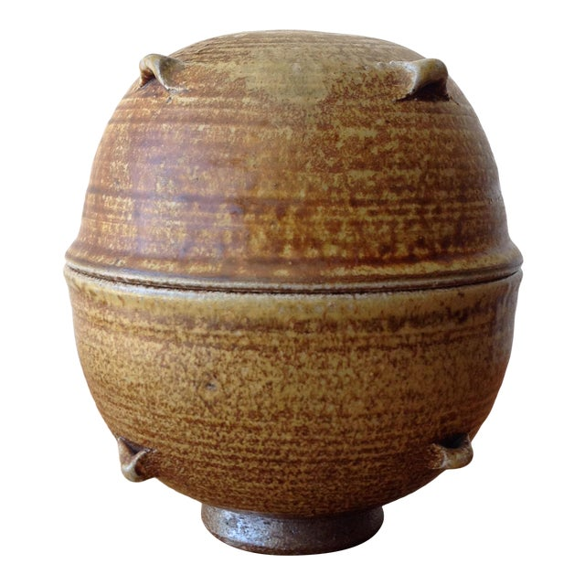 Vintage 1960s Ceramic Vessel For Sale