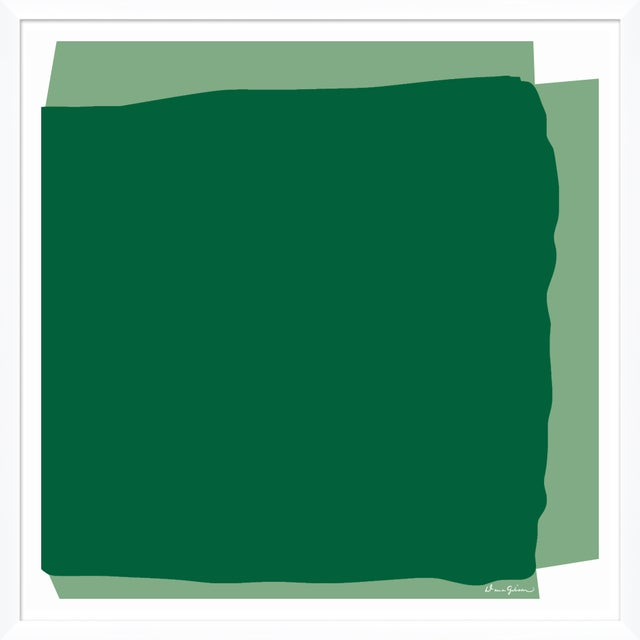 """Contemporary """"Blocked in Green"""" By Dana Gibson, Framed Art Print For Sale - Image 3 of 3"""