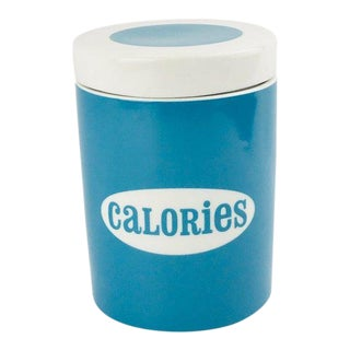 Jonathan Adler Ceramic Calories Canister For Sale