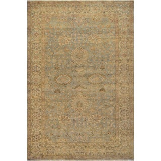 Mansour Turkish Handwoven Wool Oushak Rug - 6' X 9' For Sale
