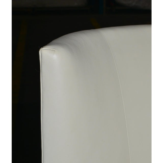 Late 20th Century Dessin Fournir Modern White Leather High Back Armchairs - a Pair For Sale - Image 5 of 8