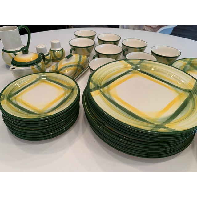 1940s Vintage Mid-Century Vernonware Gingham Dinnerware - 40 Piece Set For Sale - Image 5 of 13