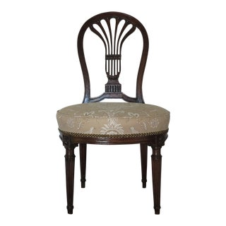 Late 18th Century Antique Louis XVI Balloon Back Side Chair For Sale