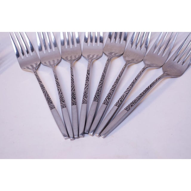 1960s Mid-Century Japanese Modern Ekco Epic Forty-Piece Stainless Steel Flatware Set For Sale - Image 5 of 13