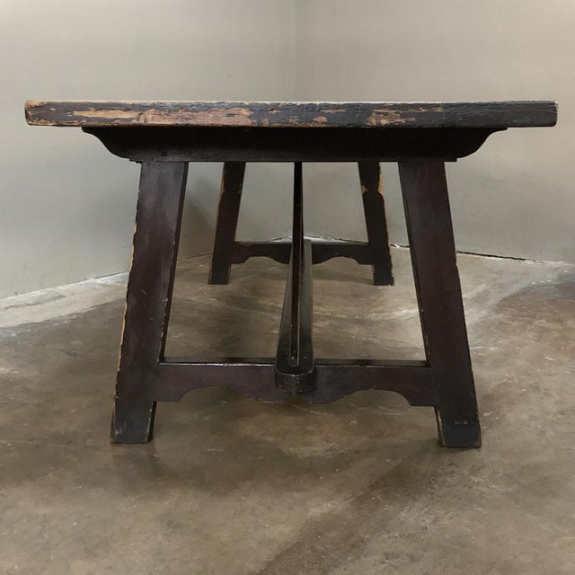 19th Century Spanish Table With Marble Tiles For Sale - Image 4 of 13