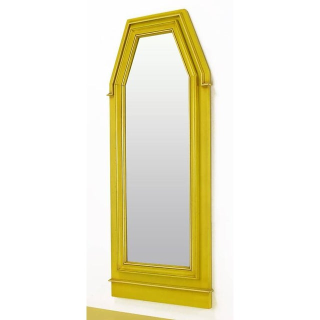 Gold Empire Style Console and Mirror in Glazed Yellow Lacquer For Sale - Image 8 of 10