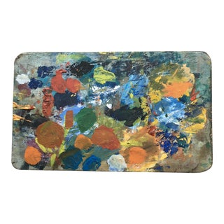 Original French Artists Painters Palette on Board For Sale