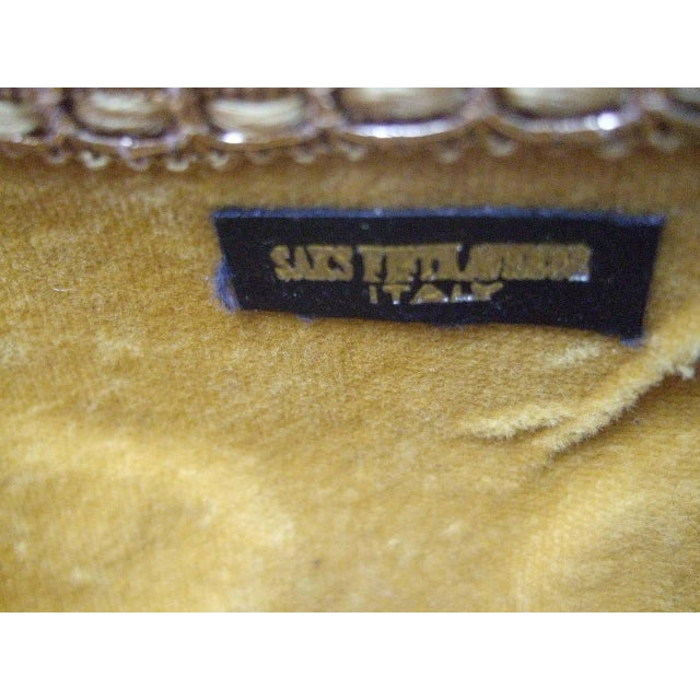Saks Fifth Avenue Gilt Metal Panther Evening Bag Made in Italy For Sale - Image 6 of 8