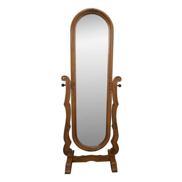 Vintage Louis XV Hand Painted Cheval Mirror - Image 1 of 10
