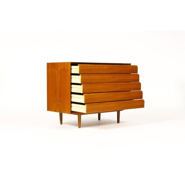 Mid-Century Modern Mid-Century Danish Modern Teak 5 Drawers Upright Chest / Dresser For Sale - Image 3 of 8