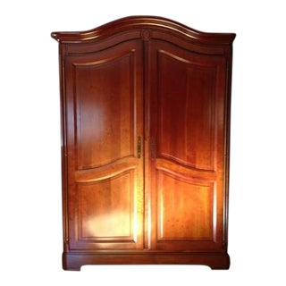 1990s Traditional Grange Cherry Wood Armoire For Sale