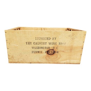 Vintage 1960s French Bordeaux Wooden Wine Crate Storage For Sale