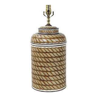 Modern Hand Painted Rope Design Tea Caddy Lamp For Sale