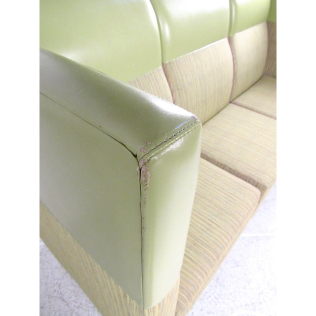 Textile Stylish Modern Booth Style Sofa For Sale - Image 7 of 13