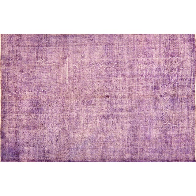 """Vintage Turkish Anatolian Overdyed Hand Knotted Organic Wool Fine Weave Rug,6'8""""x10'3"""" For Sale"""