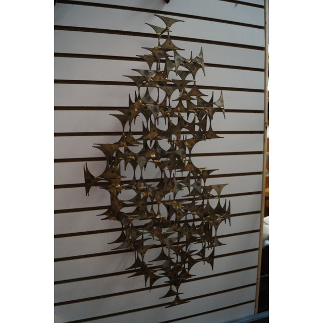 Marc Creates mid-century modern metal hanging wall sculpture. Approximately 30 years old and made in America.