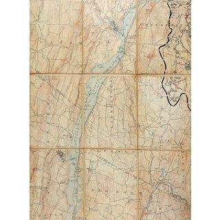 Catskill New York 1895 Us Geological Survey Folding Map For Sale