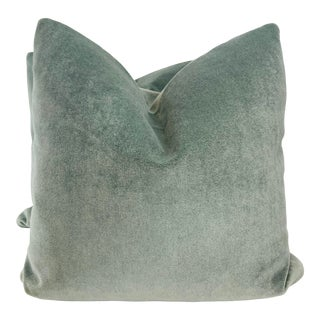 """Pindler """"Atlas Mohair"""" in Ice 22"""" Pillows-A Pair For Sale"""
