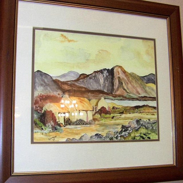 LOVELY pair of large contemporary Irish Watercolors. Both by Irish Artist ...... Noel Hume.......signed and dated 2006 in...