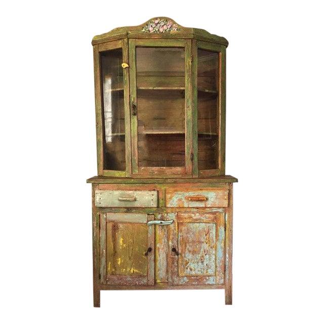 Vintage Farmhouse American Primitive Cupboard Kitchen Hutch