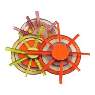 Fabrice Paris Large Multicolor Resin Talosel Brooch Pin For Sale