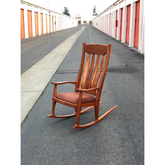 Vintage Mid Century Studio Crafted Rocking Chair For Sale - Image 13 of 13