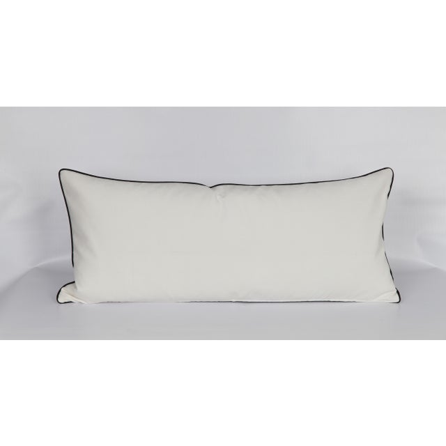 Black and White Bunny Large Lumbar Pillow For Sale - Image 4 of 5