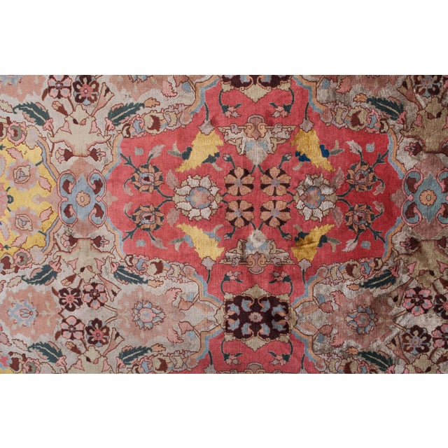 Silk Agra Carpet in Wool & Silk For Sale - Image 7 of 11