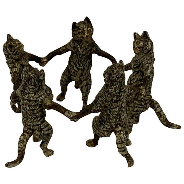Vienna Cold Painted Bronze Dancing Cats, Attributed to Bergman For Sale - Image 11 of 11