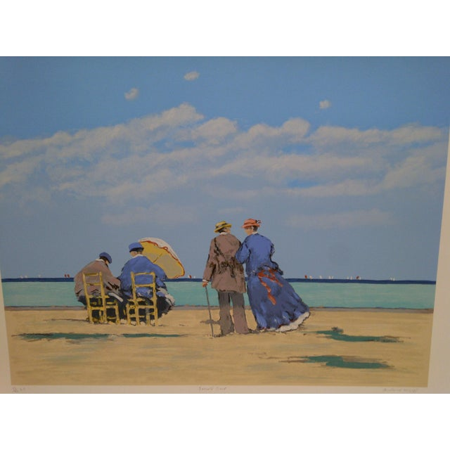 """Contemporary Frederick McDuff Limited Edition """"Emerald Coast"""" Artists Proof Print For Sale - Image 3 of 8"""