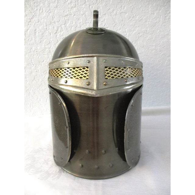 Gothic Seymour Medieval Knight Helmet Ice Bucket For Sale - Image 3 of 9