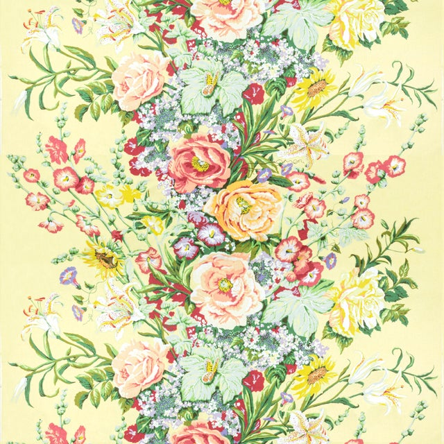 American Vintage Bassett McNab Summer House Floral Fabric, 1 Yard For Sale - Image 3 of 3