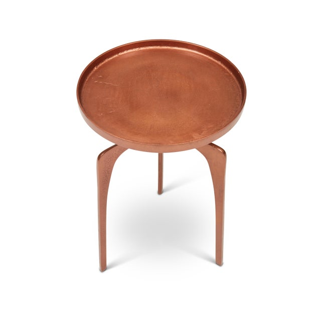 Mid-Century Modern Kim End Table, Vintage Copper For Sale - Image 3 of 7