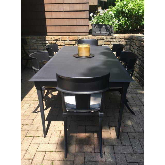 Restoration Hardware Outdoor Dining Table and Chairs