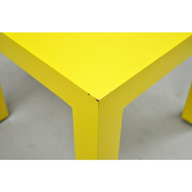1970s 1970s Vintage Thayer Coggin Milo Baughman Yellow Parsons Style Laminate End Table For Sale - Image 5 of 10