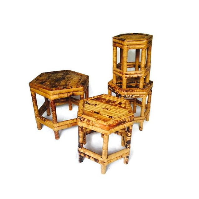 Chinoiserie Bamboo Plant Stands - Set of 4 - Image 3 of 6