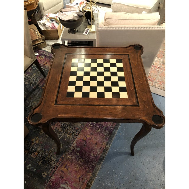 Kenneth Ludwig Chicago Traditional Sterling Collection French Game Table For Sale - Image 4 of 11