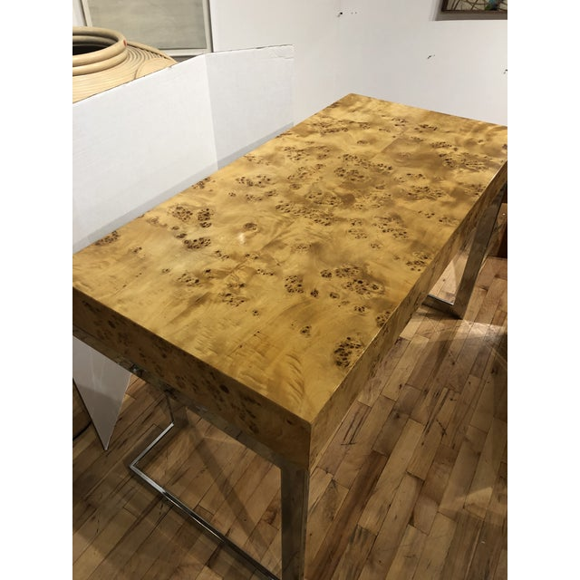 Mid-Century Modern Mid-Century Burlwood Desk by Milo Baughman For Sale - Image 3 of 6