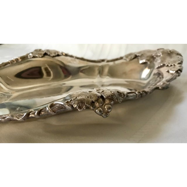 1950s Homan Silverplate Bread Celery Serving Dish For Sale - Image 4 of 7