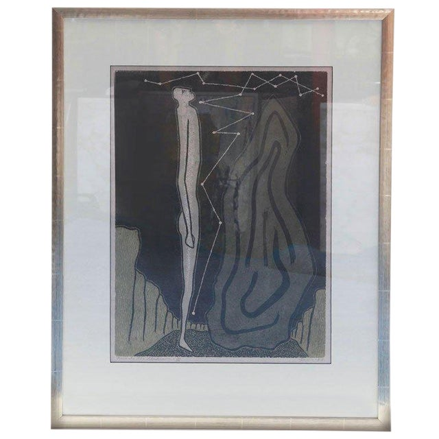 Towards the Unknown Lithograph by Lewis For Sale